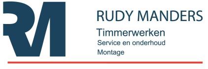 LOGO RUDY MANDERS TIMMERWERKEN